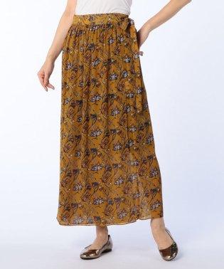 楊柳プリントラップスカート