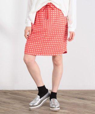 E/スラブドットプリントスカート