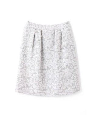 ウールフラワージャガードスカート