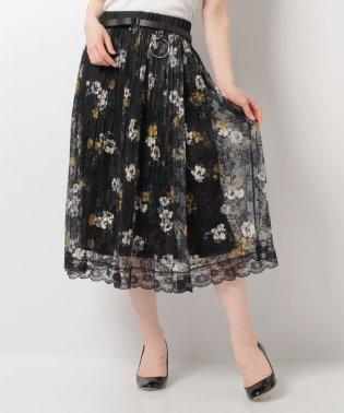◆一枚で華やかさUP◆ふんわりレースロングスカート