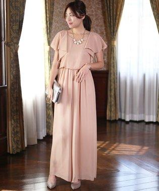 【WEB限定】ラッフルロングパンツドレス