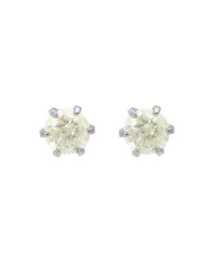 K18WG 天然ダイヤモンド0.2ct スタッドピアス