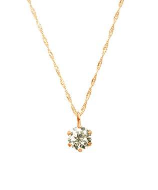 天然ダイヤモンド 0.3ct SIクラス ネックレス 鑑定書付 K18PG スクリュー42cm