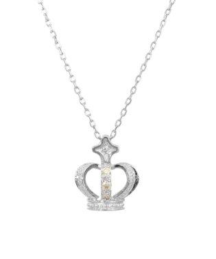 クラウン/K10WG 天然ダイヤモンド ネックレス