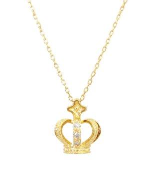 クラウン/K10YG 天然ダイヤモンド ネックレス
