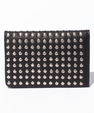 Leather card case 'all‐studs'