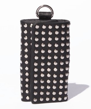 Leather key case 'all‐studs'