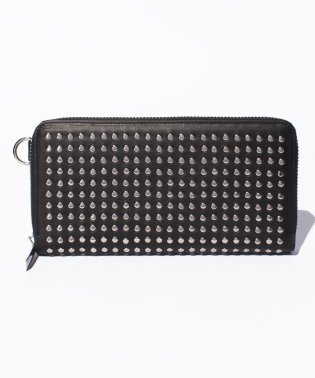 Leather long wallet fold 'all‐studs' 2