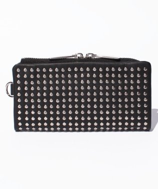 Leather long wallet 'all‐studs' 2