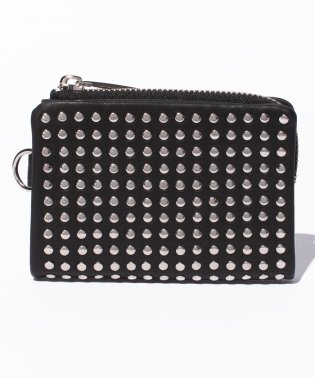 Leather micro wallet 'all‐studs' 2