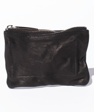 Leather‐washed  coin case 'shine'