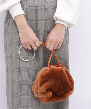NOMADIS/別注リアルムートンリングハンドルbag