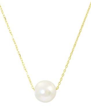 K18ゴールド あこや本真珠 7~7.5mm 一粒スルーネックレス