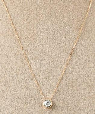 18KYG 0.2ct ダイヤモンド Fネックレス