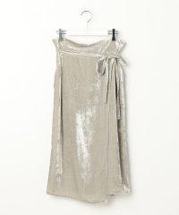 クラッシュベルベットスカート