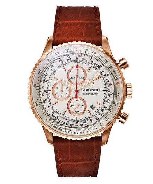 6abbbf6643 GUIONNET Flight Timer Professional 腕時計 FT44SSV メンズ|エシェル ...