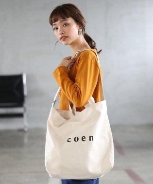 【2018SS新作 Largeサイズ】coen2WAYロゴトートバッグ