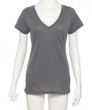 【やわらか綿100%】 スマイルコットン VネックTシャツ (C074)