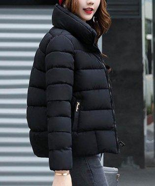 中綿 キルティング ジャケット レディース スタンドカラー アウター ショート丈