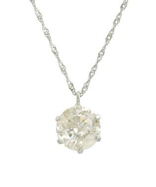 天然ダイヤモンド 1ctアップ 6本爪 プラチナネックレス