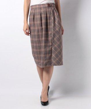 グレンチェックタックタイトスカート