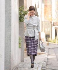 【Bonnsylph】パールボタン付きラップタイトスカート