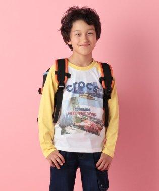 CROCSプリント長袖Tシャツ