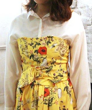 【CanCam5月号掲載】【セットアップ対応商品】オリジナルファーブル柄ビスチェSETシャツ