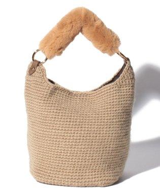 カシュカシュ cachecache / エコファーハンドル2way手編みバッグ