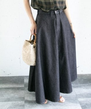 Wrangler×ROSSO <別注>ブロークンデニムマキシスカート
