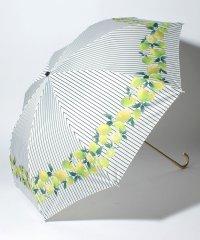 BE SUNNY ビーサニー 2段折りたたみ傘 レモンストライプ (晴雨兼用 UV 紫外線カット  耐風 軽量 撥水)