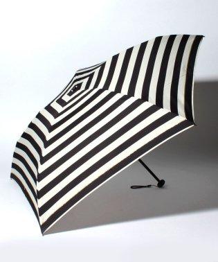 BE SUNNY ビーサニー 4段折りたたみ傘 ボーダー (晴雨兼用 UV 紫外線カット  耐風 軽量 撥水 ポーチ付)