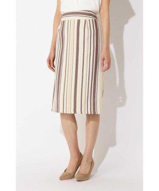 ランダムストライプツィードスカート
