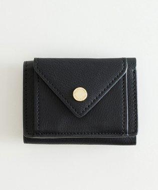 Legato Largo ロゴ刻印カシメ メール型三つ折りミニ財布