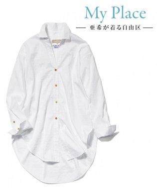 【マガジン掲載】TIMELESS イタリアCANGIOLI ロングシャツ(検索番