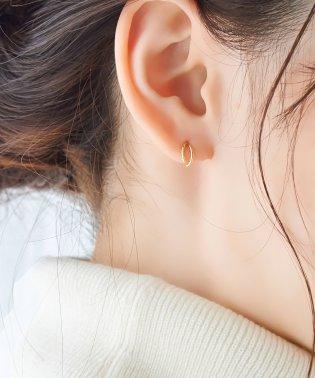 【K10】ダブルハーフフープピアス