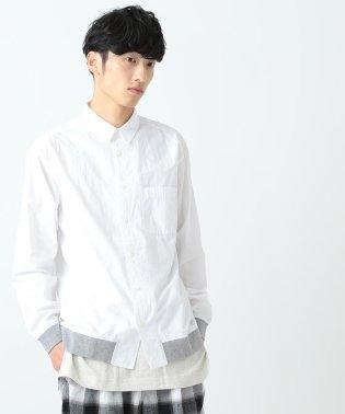 BEAMS / 裾リブ タイプライターシャツ