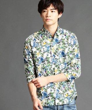 花柄七分袖シャツ
