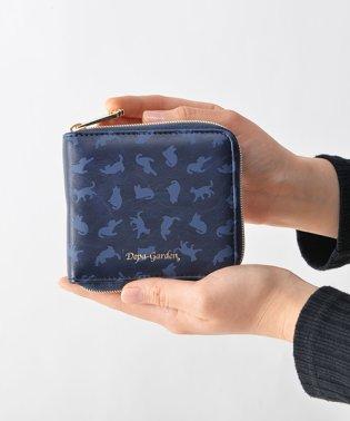 Depa-Garden猫柄ラウンド二つ折り財布