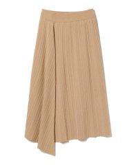Demi-Luxe BEAMS / ランダムリブ アシンメトリーニットスカート