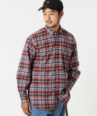 BEAMS / マルチチェック ルーズフィット シャツ