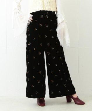 ◇Ray BEAMS / 花刺繍 ベッチン パンツ