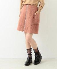 Ray BEAMS / シャギー ジップフロント ミニスカート