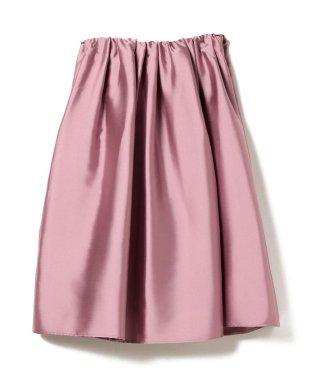 【Pink Ribbon Campaign】【大草直子さんオススメ】Demi-Luxe BEAMS / ダブルサテン タックスカート