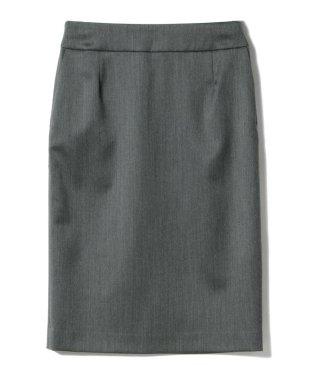 Demi-Luxe BEAMS / サテンウール ペンシルスカート