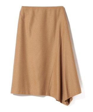 Demi-Luxe BEAMS / キャメル混アシンメトリーヘムスカート