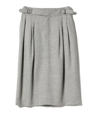 Demi-Luxe BEAMS / ダブルベルト タックタイトスカート