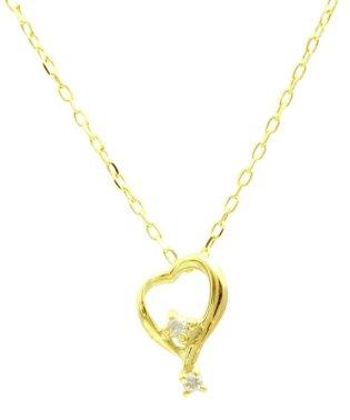 贅沢なオール18金ゴールド!K18ゴールド 天然ダイヤモンド ネックレス 選べる3カラー 【ティアドロップハート/K18YG】