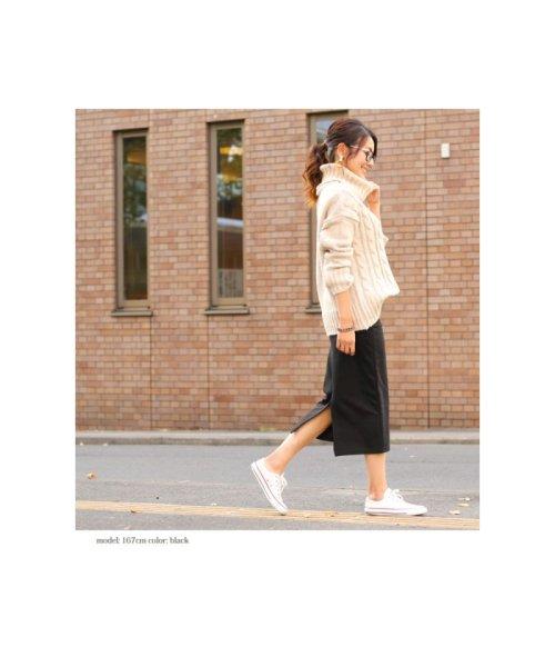 裏起毛バックスリット入りタイトスカート(ひざ丈スカート)|REAL STYLE(リアルスタイル)の通販|d fashion アウトレット  (501500766146)