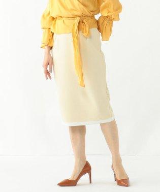 Demi-Luxe BEAMS / ミラノリブ バイカラーニットスカート